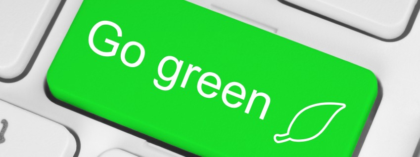 Go Green keyboard button photo